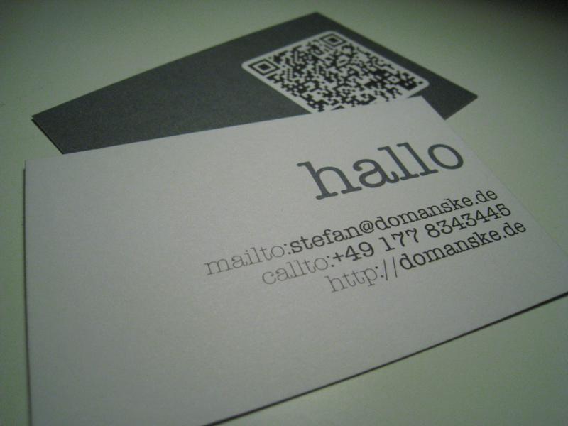 Neue Visitenkarten Mit Qr Code