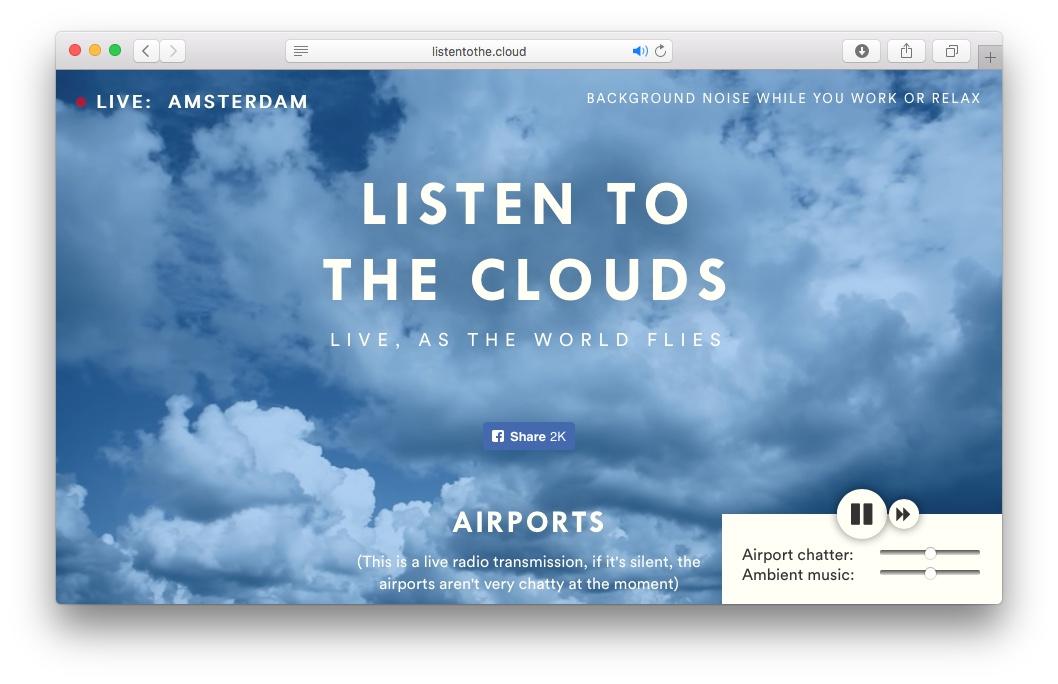 Screenshot von Listentothe.cloud